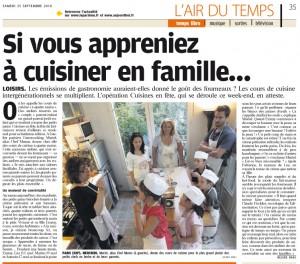 GuestCooking et Le Parisien 24 09 2010